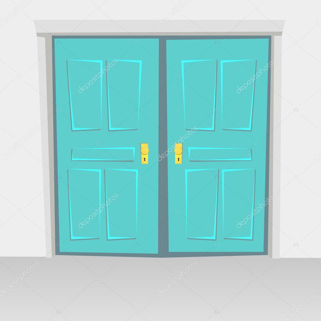 Porte interne a battente bivalve, altalene porta. Colorato con ...