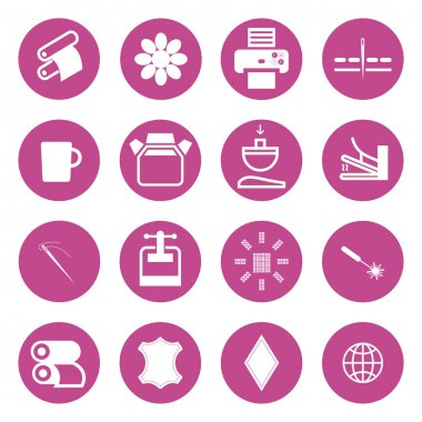 Icons types of printing, printing icon