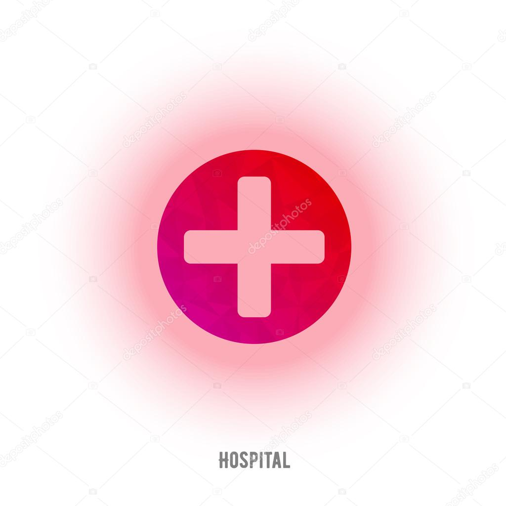 First aid red cross sign. Medical cross