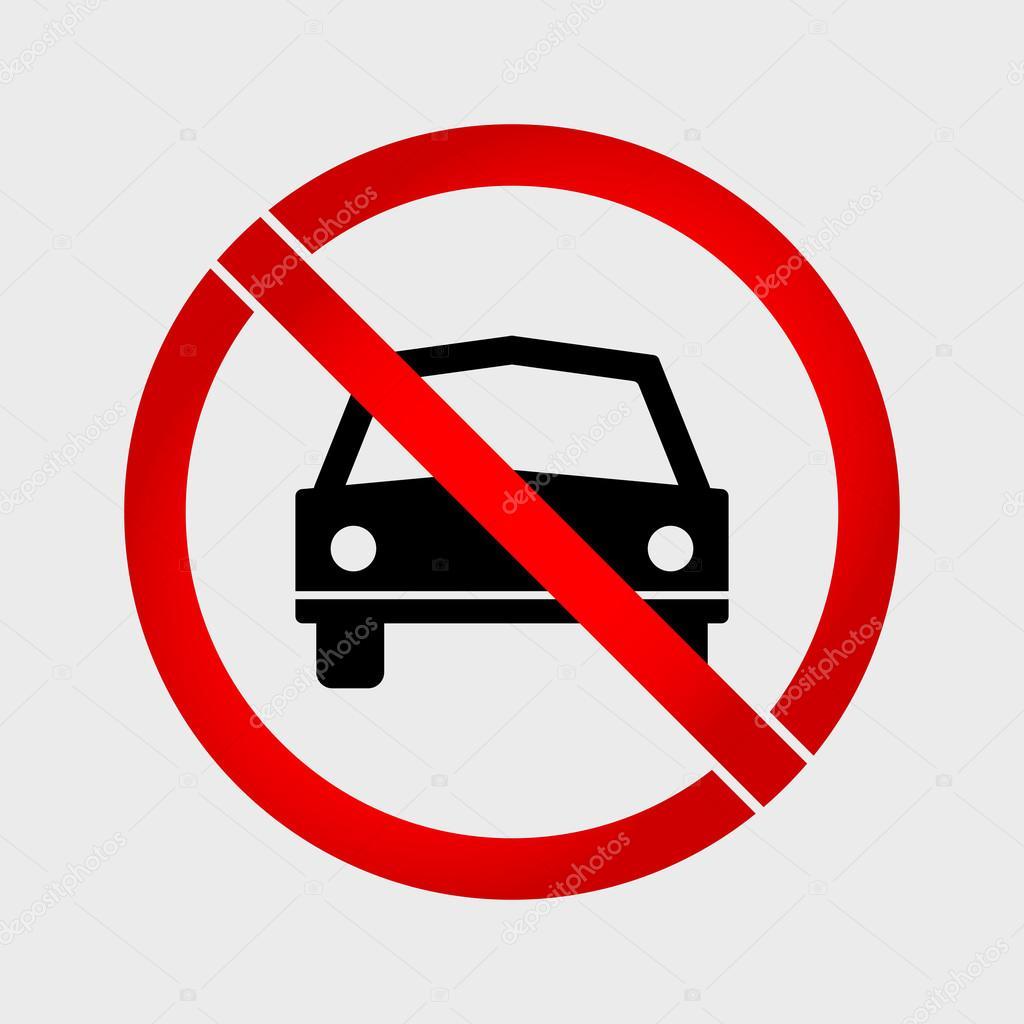 aucun signe d 39 interdiction voiture ou pas de parking image vectorielle alexeyblogoodf 93898628. Black Bedroom Furniture Sets. Home Design Ideas