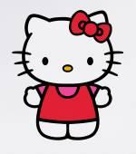 Hello Kitty a képernyő monito