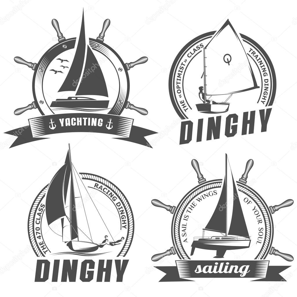 set of logos for sailing