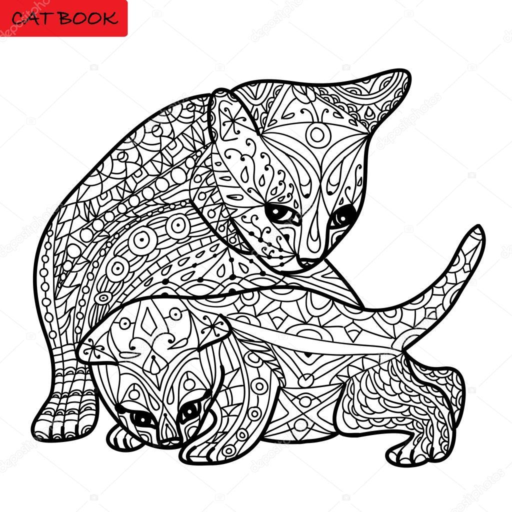 kleurplaten volwassenen kat