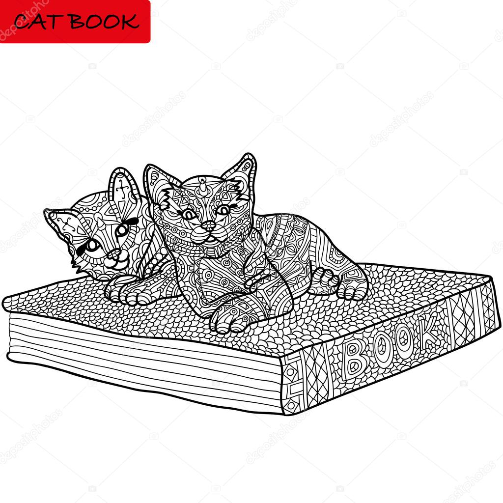 imagen monocromática, libro para colorear para adultos - libro de ...