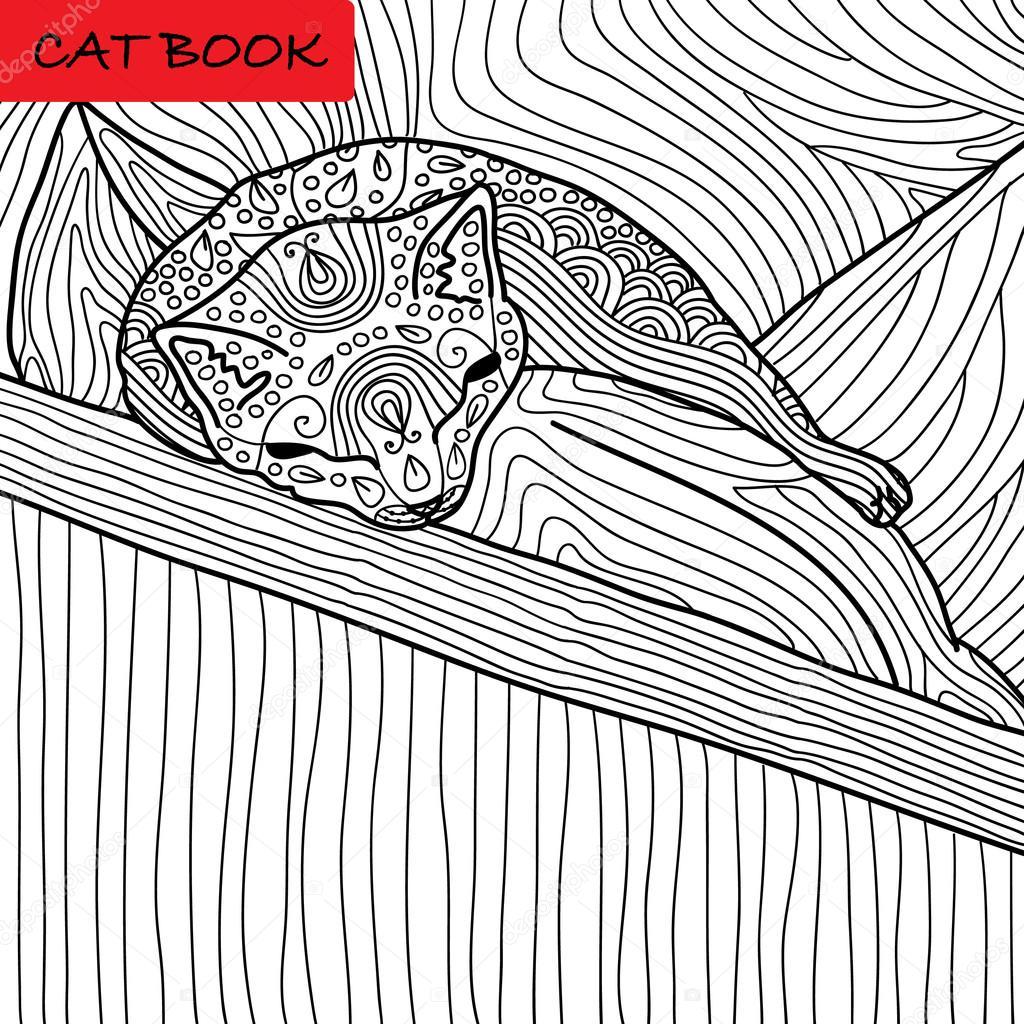 Disegni Di Gatti Che Dormono Pagina Di Gatto Da Colorare