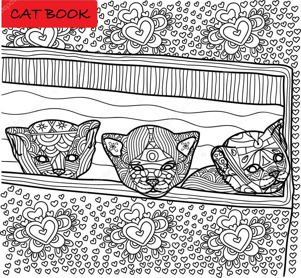 Malseite für Erwachsene Katze. Drei neu gegründeten Kätzchen beim ...