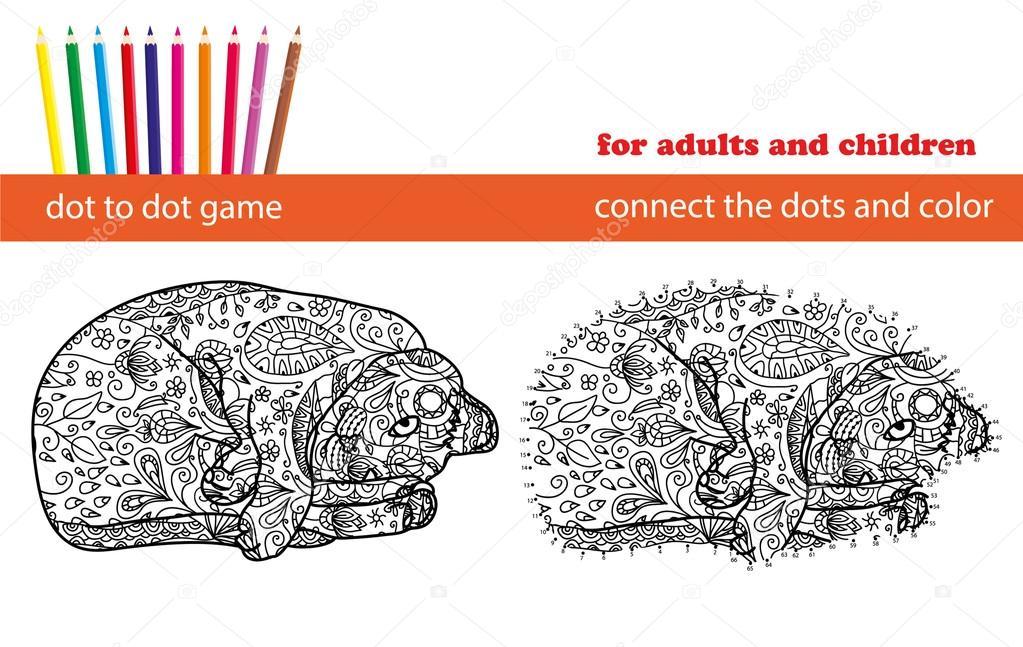 Nokta Nokta Oyun Için Boyama Ve Nokta Nokta Reklam Için Eğitici Bir