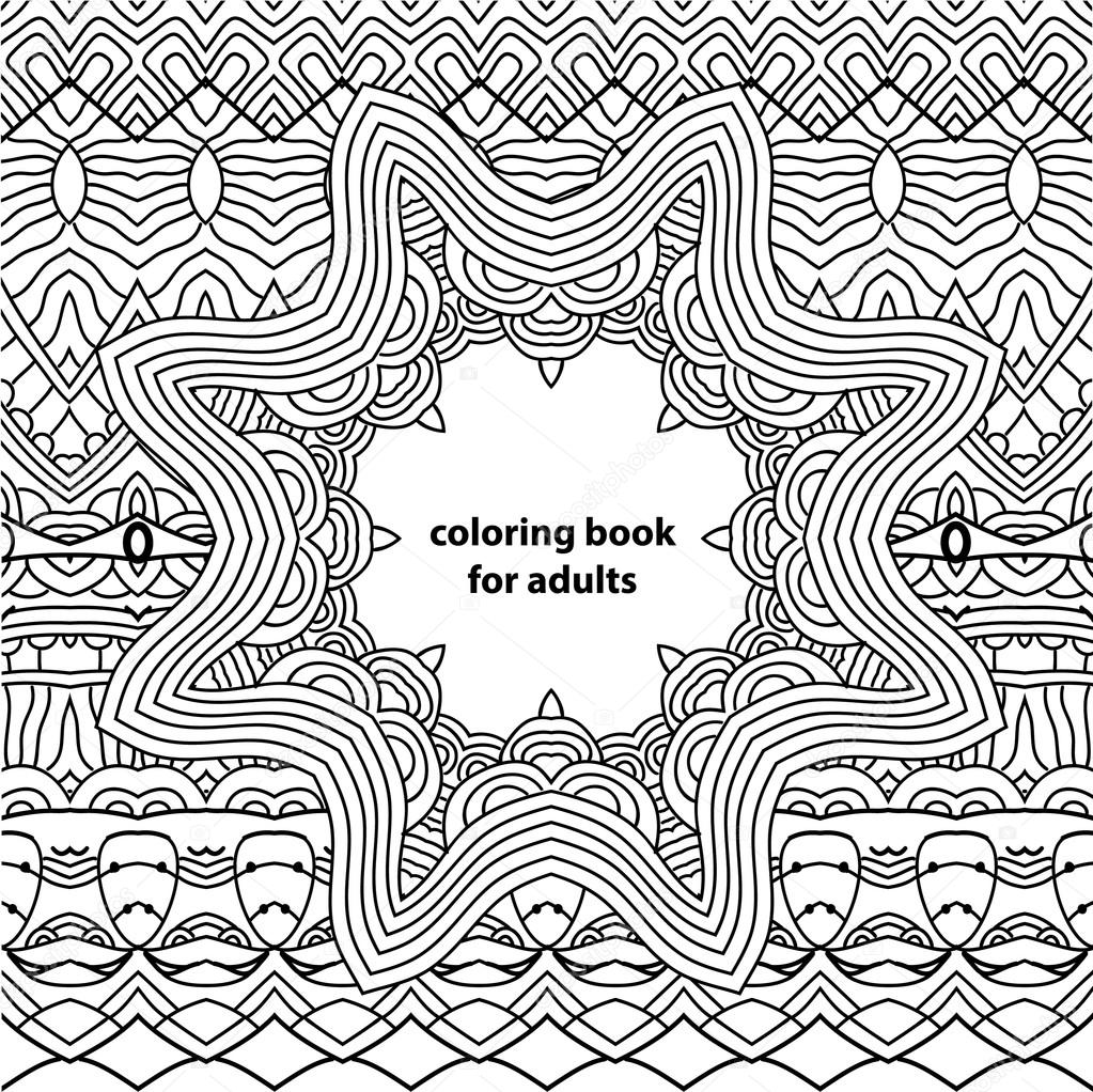 Libro para colorear para adultos. Patrones abstractos zentangle ...