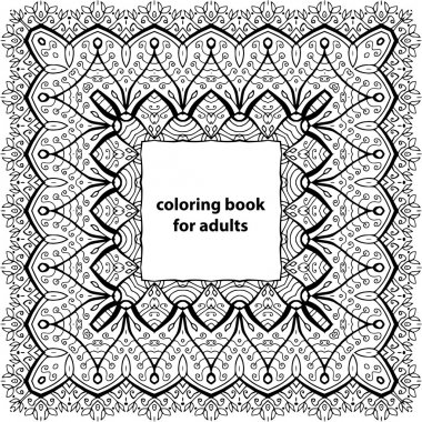 Zenart. Coloring book for adults. Zentangle tribal patterns.