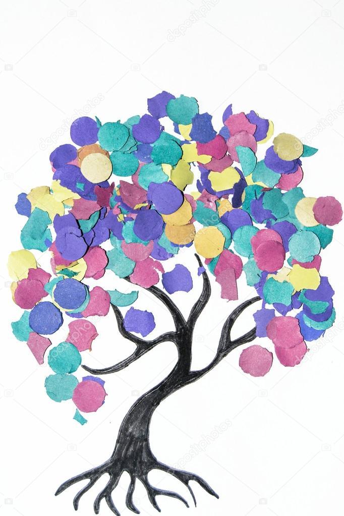 Imágenes Arboles De Colores Animados árbol De Dibujos Animados
