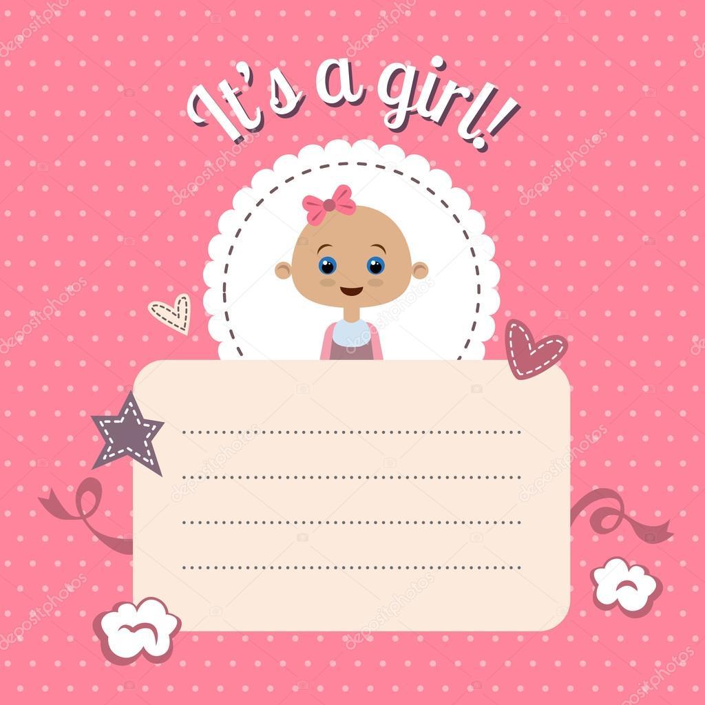 Modelo Invitacion Baby Shower Niña Invitación De Ducha De