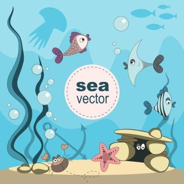 Undersea world vector