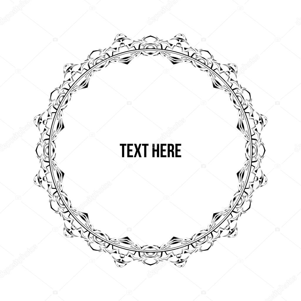 Kreis-Rahmen Ornament — Stockvektor © Ariellsyahril #84044734