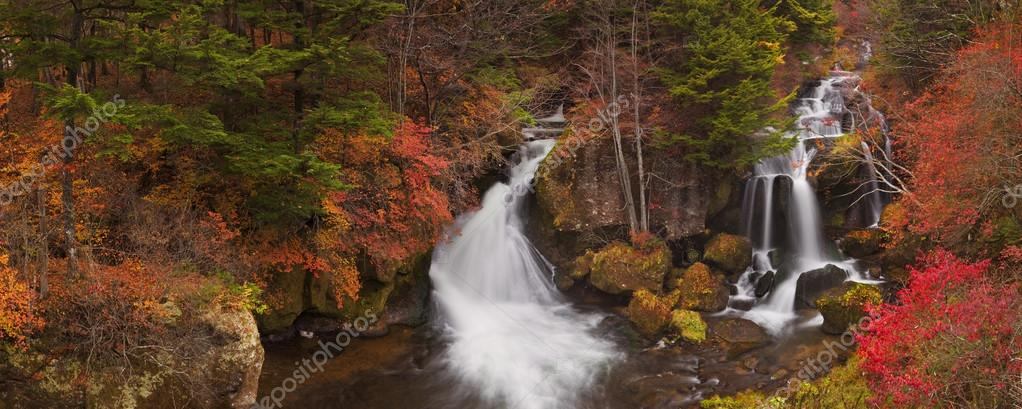Ryuzu Falls near Nikko, Japan in autumn