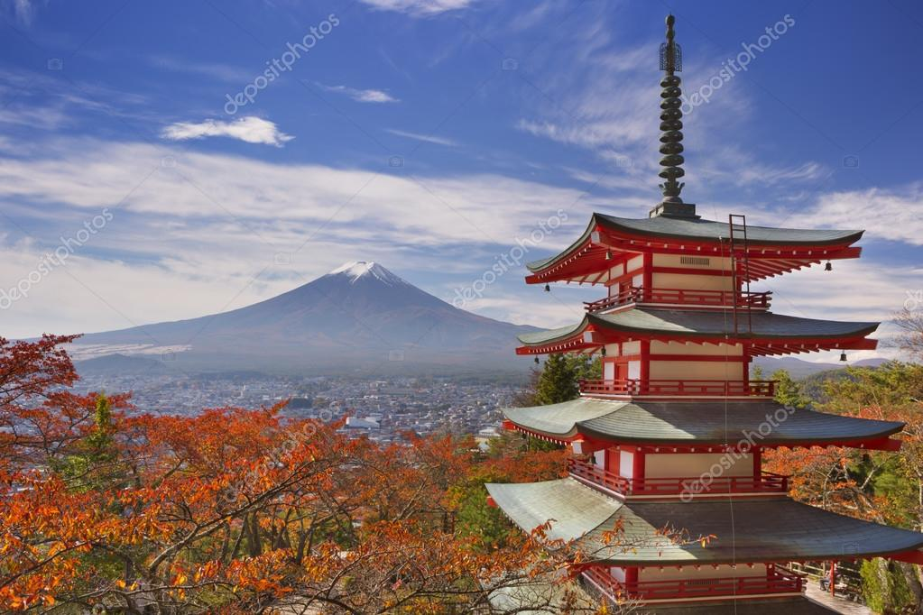 Chureito pagoda and Mount Fuji, Japan in autumn