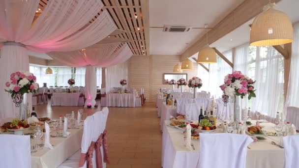 Wedding Decorations. Restaurant Interior