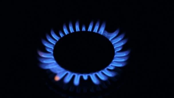 blaue Gasflamme