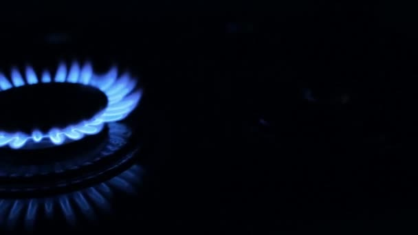 blaue Gasflamme, horizontale Bewegung