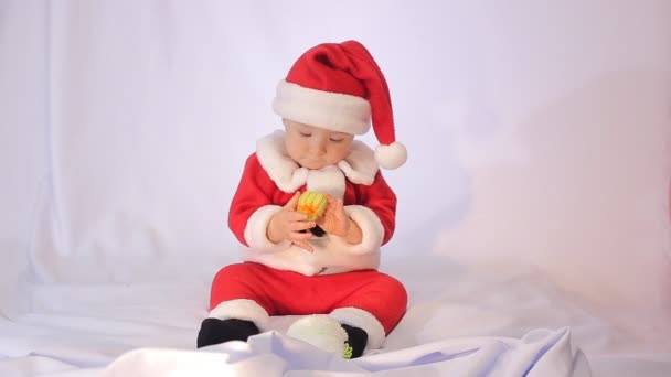 Little Santa Claus on a white background