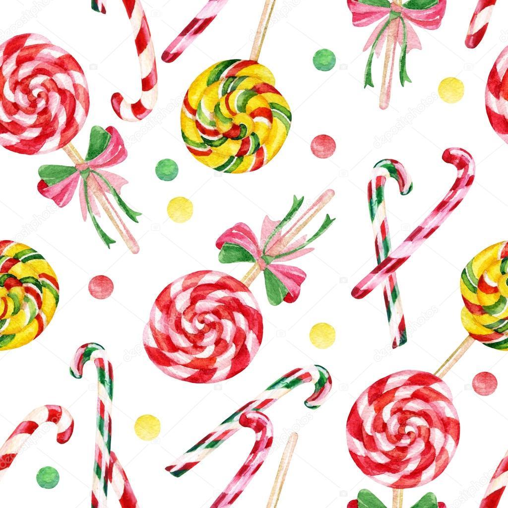 Lollipop candy cane de patrones sin fisuras — Foto de stock ...
