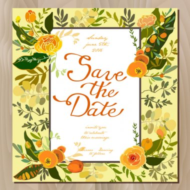 Wedding floral card