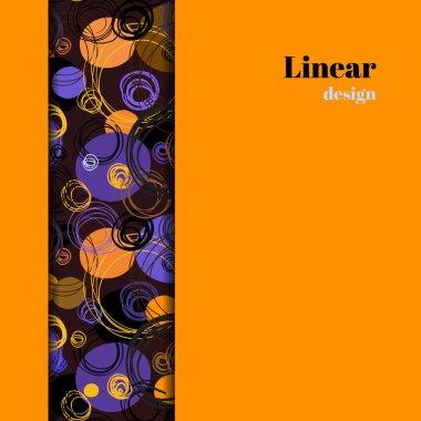 Orange geometric background.