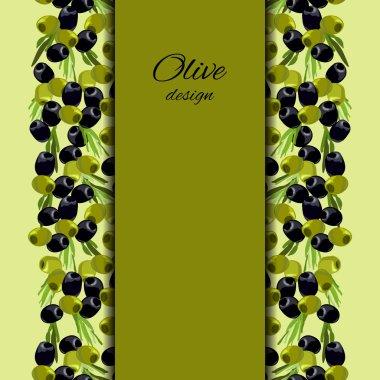 olives design background.