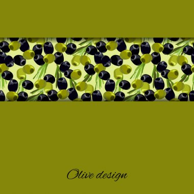 olives design background.