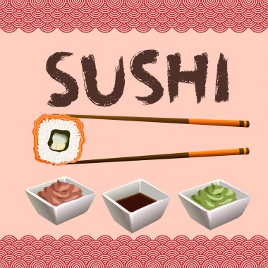 Sushi background design.