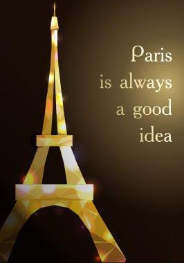 Eiffel tower vector illustration.