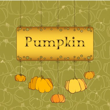 Thanksgiving celebration banner design with pumpkins