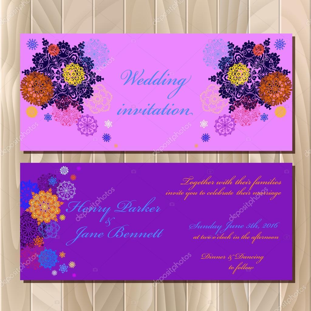 Winter snowflakes design wedding invitation card wedding vector winter snowflakes design wedding invitation card wedding vector illustration vetor de stock stopboris Images