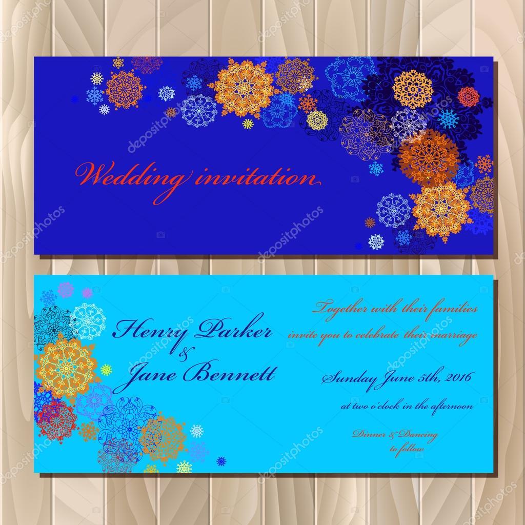 Winter snowflakes design wedding invitation card vector winter snowflakes design wedding invitation card vector illustration vetor de stock stopboris Images