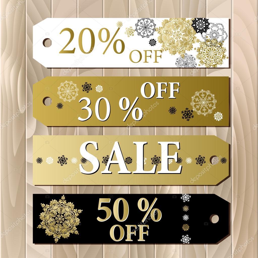 Großer Verkauf druckbare Karte Vorlage mit goldenen Schneeflocken ...