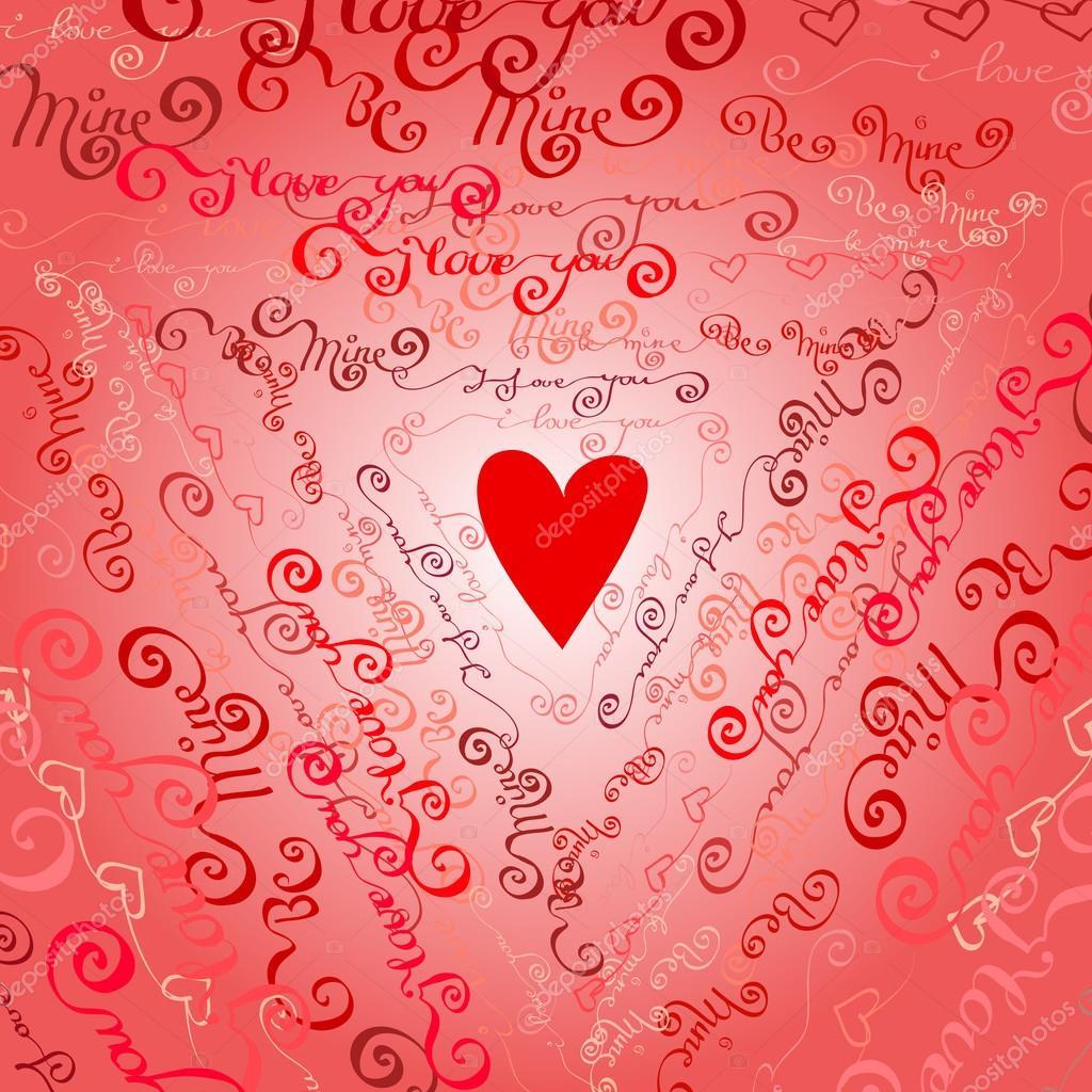 i love you words background ストックベクター iradvilyuk 97703702