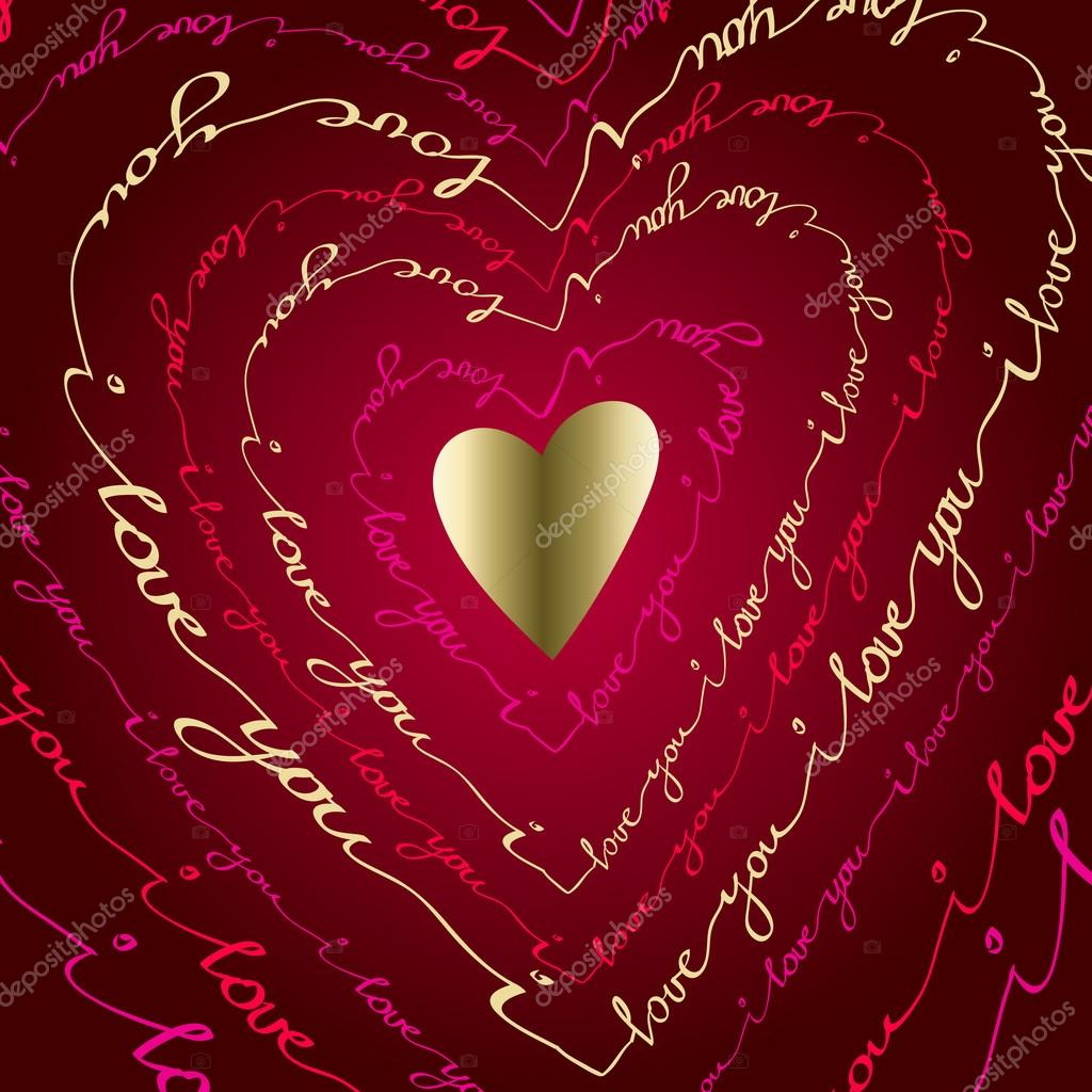 Hand drawn typography card valentine love card stock vector hand drawn typography card valentine love card stock vector m4hsunfo