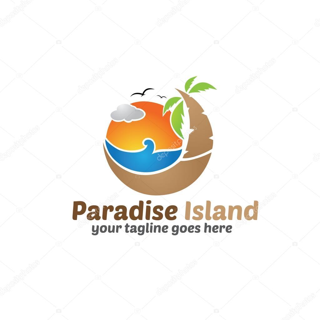Paradise Island Logo Template
