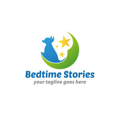 Bedtime Stories Logo Template