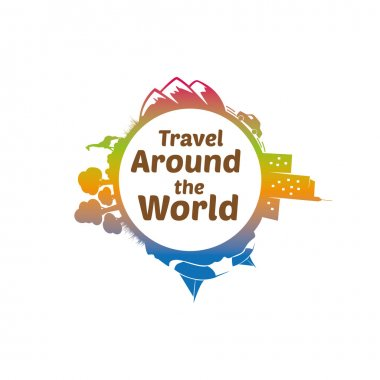 Travel Around The World Logo Template