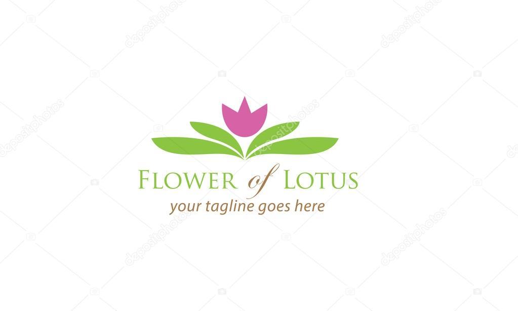 ロータスのロゴのテンプレートの花 ストックベクター astanadesign