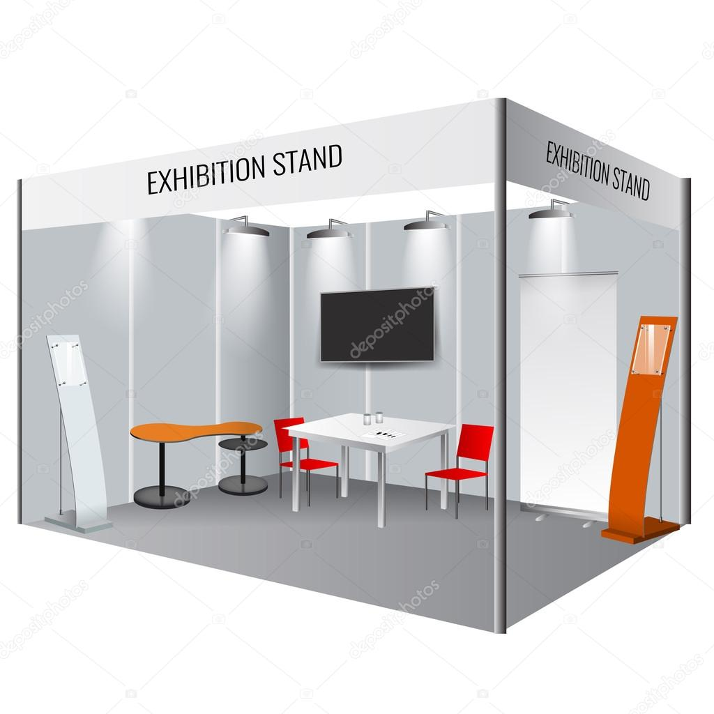 Creative exhibition stand design booth template for Design de stand