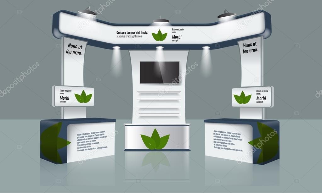 Dise o de stand de exposici n creativa plantilla para for Disenos de stand para exposiciones