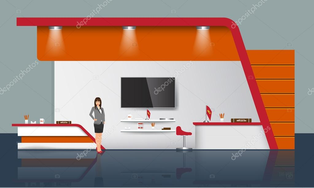 Exhibition Stand Design Illustrator : Kreative messestand design handel stand vorlage