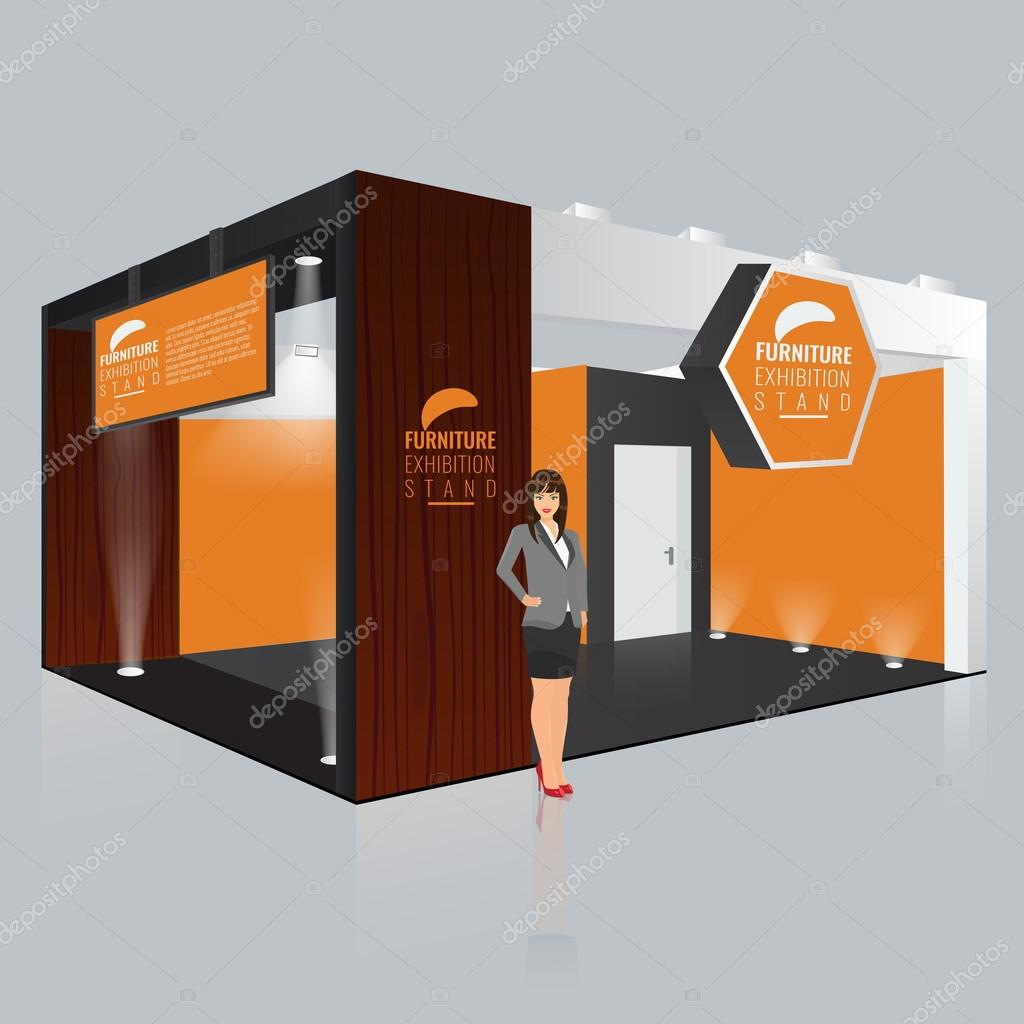 Exhibition Stall Mockup : Creative exhibition stand design booth template