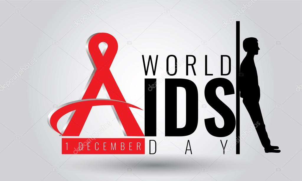 World Aids Day Vector Sign Symbol 1 December Hiv Stock Vector