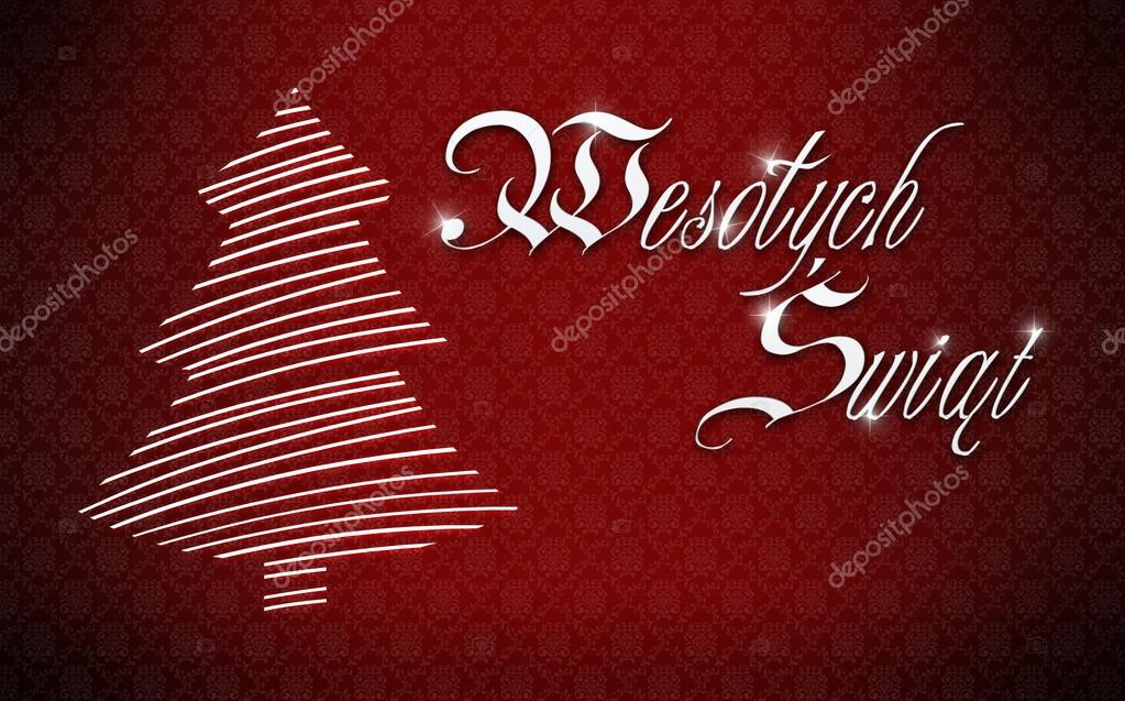 post card merry christmas on polish language stock photo - How To Say Merry Christmas In Polish