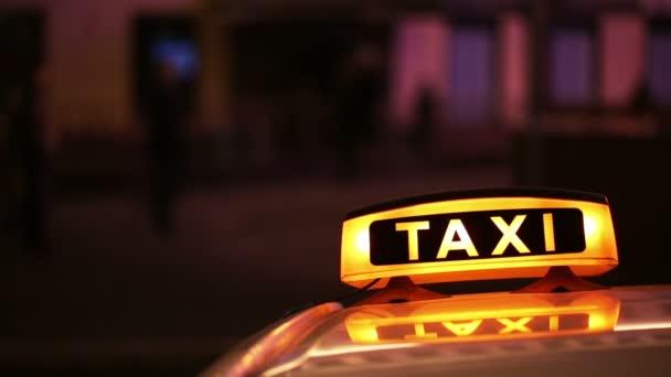 Osvětlené Sighn Taxi Cab