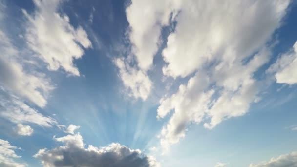 Beautiful sun rays breaking through louds