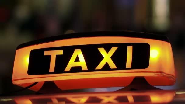 Osvětlené Sighn Taxi Cab 3