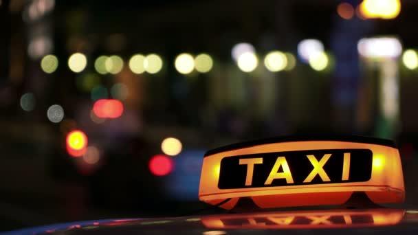 Osvětlené Sighn Taxi Cab 2